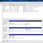 SSDクローン後のディスクの管理画面